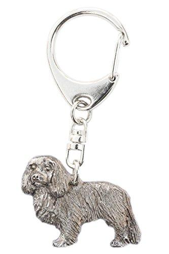 Cavalier King Charles Spaniel Made in U.K Artistic Style Dog Key Ring (Miniature Cavalier King Charles Spaniel)