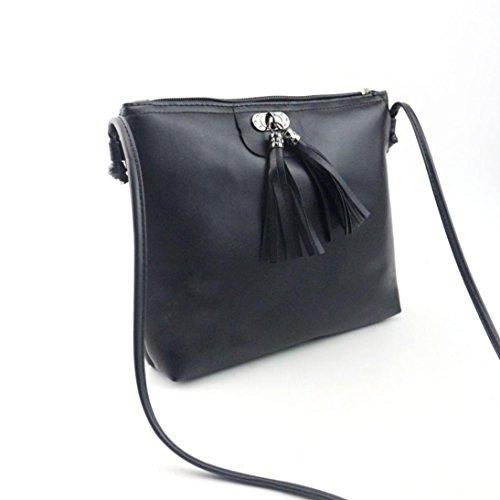 Bolsos Para mujer, RETUROM Nueva mujer borla bolso bandolera para el estudiante Negro