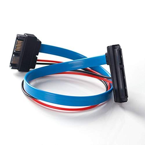 Cable SATA Macho a SATA Hembra de 22 Pines Slimline 30 cm