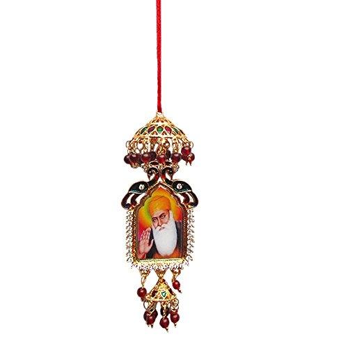 Universal World Golden Color Guru Nanakdevji And Guru Gobindji Picture For Car Rear Miror