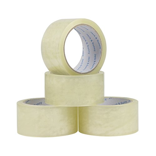Jack&Sunny Heavy Duty Packing Tape Low Noise 1.88 Inch x 54.6 Yard(Pack of 6 Rolls) Industrial Packaging Tape Great for Packing Shipping Moving Depot&Storage Clear Photo #3