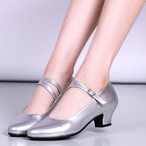 Moda Tacco Latino Classiche Basso Argento Professional Ladies Scarpe Ballo Lihaer Scarpe Femminile Da w8RxXa4qt