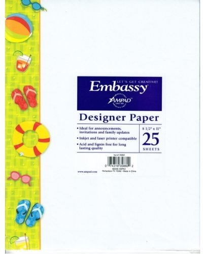 Designer Paper EMBASSY 1 PACK OF 25 SHEETS