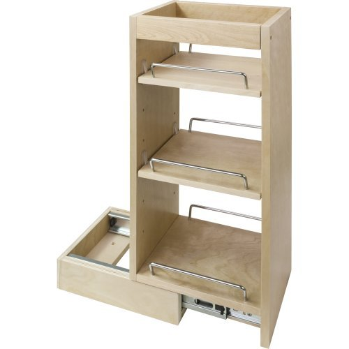 Cabinets Bath Maple - Hardware Resources WPO5 Wall Cabinet Pullout, Hard Maple