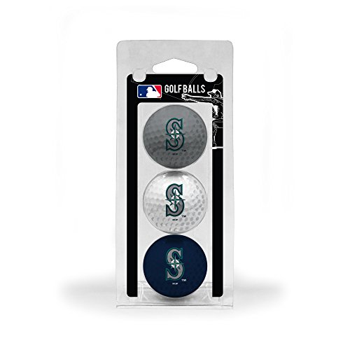Team Golf MLB Seattle Mariners Regulation Size Golf Balls, 3 Pack, Full Color Durable Team Imprint