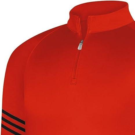 adidas Men's Climalite Warm 3 Stripes Half Zip Mock Bam