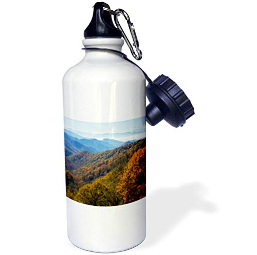 3dRose Danita Delimont - Autumn - Autumn in Great Smoky Mountain National Park, Tennessee - Flip Straw 21oz Water Bottle (wb_315023_2)