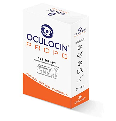 OCULOCIN PROPO STERILE SOLUTION WITH PROPOLIS, ALOE VERA, CHAMOMILLA FOR DRY EYES (10 MONODOSE VIALS, 0.5ML EACH)