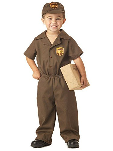 UPS Guy Boy's Costume, Large (4-6), One Color ()