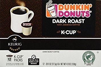 Dunkin Donuts K-cups Dark Roast - 48 K-cups