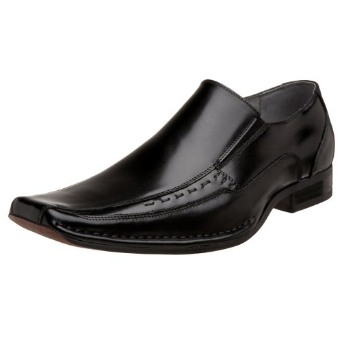 Stacy Adams Mens Templin Fiets-teen Slip-on Zwart