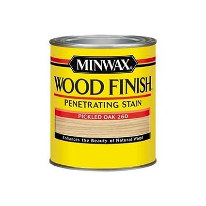 Minwax 70042444 Wood Finish Penetrating Stain Quart Pickled Oak