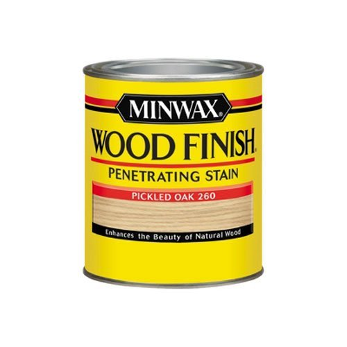 Minwax 70042444 Wood Finish Penetrating  Stain, quart, Pickled Oak