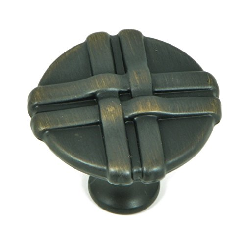 - Stone Mill Hardware CP1492-OB Oil Rubbed Bronze Weave Cabinet Knob,