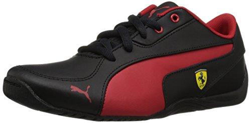 PUMA Unisex-Kids Drift Cat 5 L Ferrari NU Sneaker, Black-Rosso Corsa, 4.5 M US Big Kid (Ferrari Drift Puma Cat)