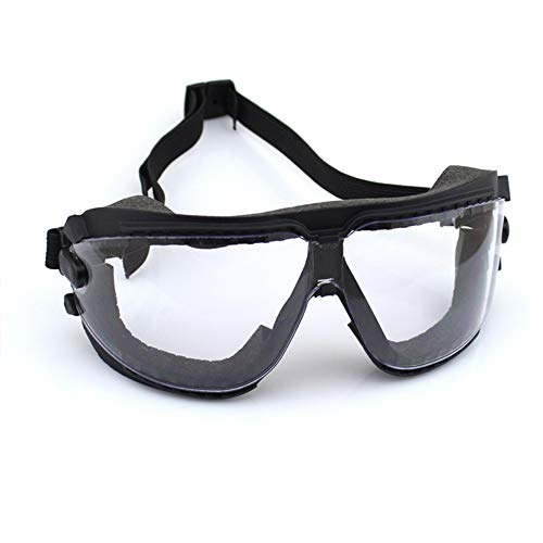 Sealed Goggles, Safety Goggles Dust Goggles Transparent Eye Masks Adjustable Soft Anti-Fog Personal Protective Equipment,3PCS
