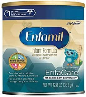 Enfamil EnfaCare Infant Formula - Clinically Proven growth benefits for premature babies - Powder Can, 12.8 oz