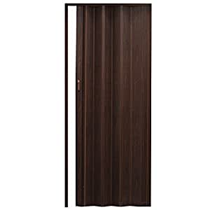 "Puerta plegable ""Baltrum"" roble oscuro 86x203cm puerta corredera"