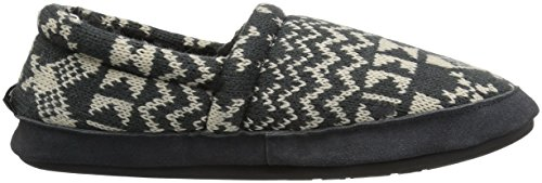 Zapatilla De Deporte Woolrich Mujeres Whitecap Knit Slipper Charcoal Con Raquetas De Nieve