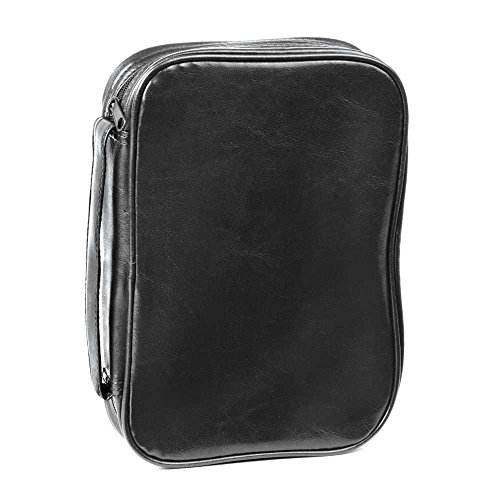 Black Leatherette Bible Cover Case with Handle, 2X-Large ()