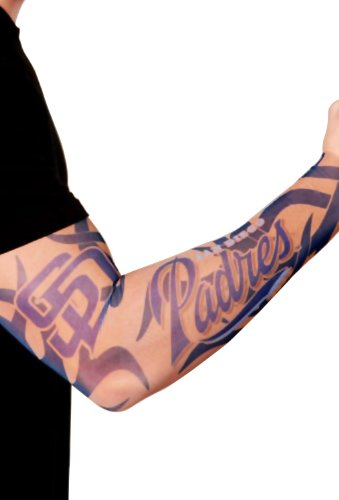 - MLB San Diego Padres Authentic Tattoo Sleeves with Full Color Team Logo