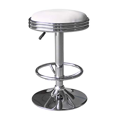 LCH Swivel Bar Stools,Bar Counter Pub Height Stools Adjustable 24