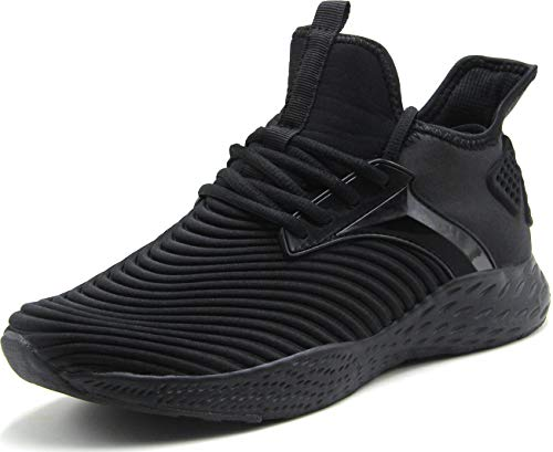 Weweya Running Shoes Men Athletic Gym Casual Walking Shoes Black 12 M US Tennis & Racquet Sports Shoes Fitness & Cross-Training Shoes Cycling Road Running ()