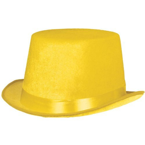 (Amscan Hat Top Party Accessory, Yellow)