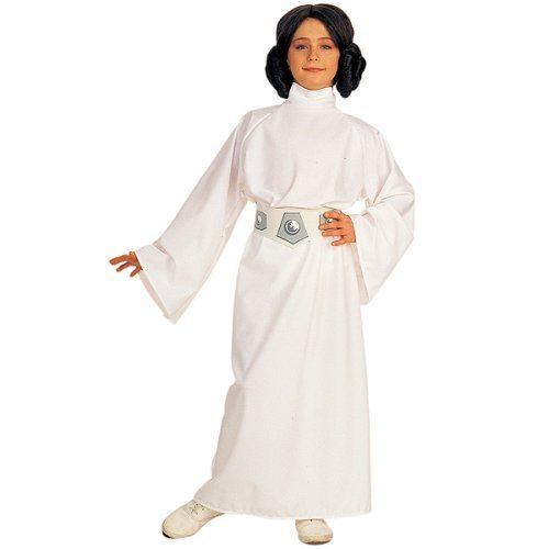 Kids Princess Leia Deluxe Costume Girls Medium Size (Luke Skywalker And Princess Leia Halloween Costumes)