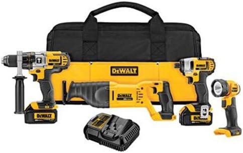 DEWALT 20V MAX Cordless Drill Combo Kit, 3.0-Ah, 4-Tool DCK490L2