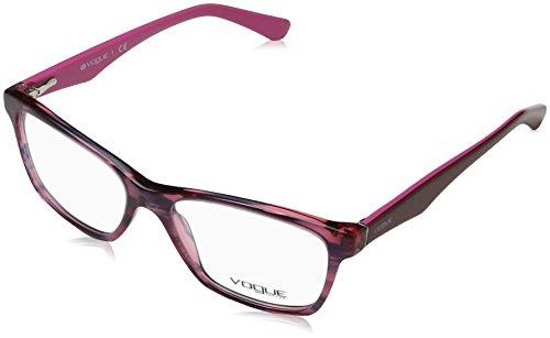 Vogue VO 2787 Women's Eyeglasses Striped Black Cherry 53
