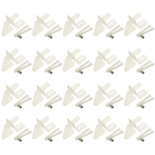 WGCD 20 PCS Nylon Control Horns 21x11 mm (4 Hole) for RC Airplane Parts Remote Control Foam Electric Plane (Rc Plane Parts)