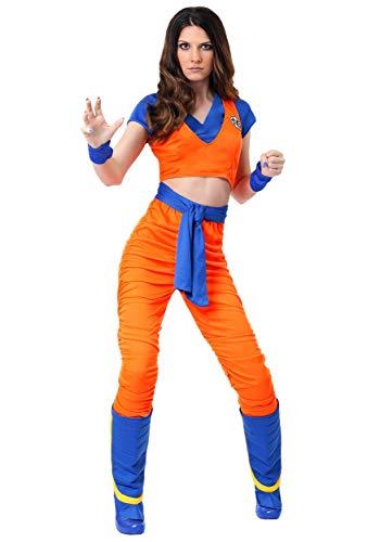 Female Goku Costume Large Orange