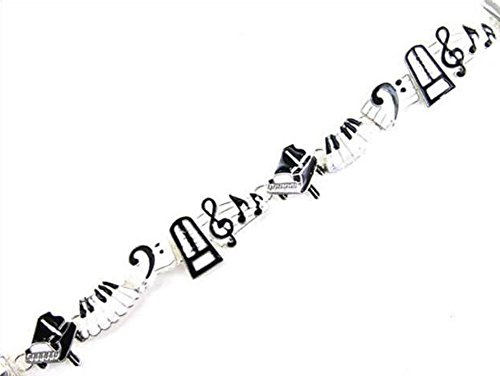 beautiful-silvertone-piano-music-theme-magnetic-clasp-closure-bracelet-with-black-white-charms-with-