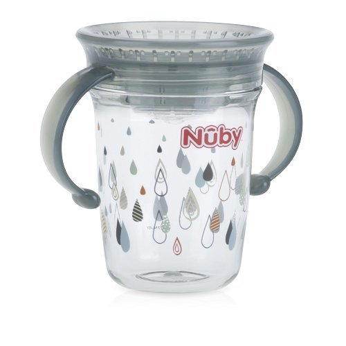 Regentropfen 12/M BPA-frei Thirsty Kinder 360//° Mini kein /überschwappen Cup von Nuby 4