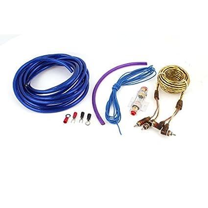 Áudio RCA calibre cabo Amplificador de Potência Fiação 4in 1