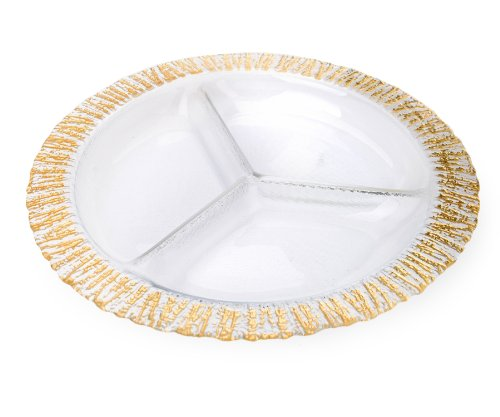 Gold Relish Dish - Classic Touch CDD627 Trophy Collection Gold-Scalloped Relish Dish