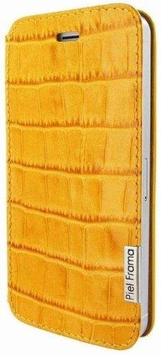 Piel Frama U639COY Krokodillederoptik FramaSlim Case für Apple iPhone 5/5S gelb