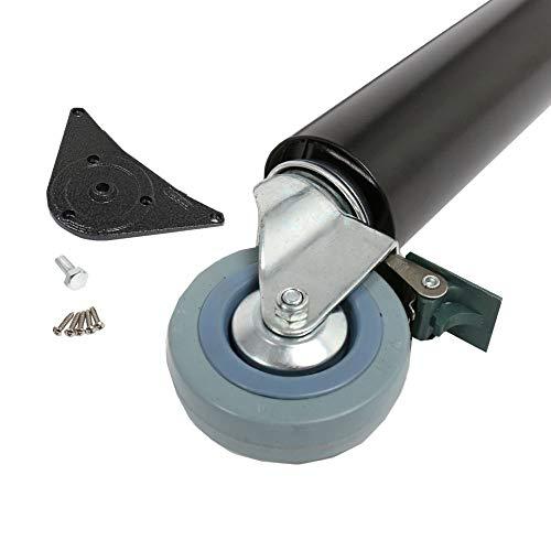 Tischbein Möbelfuss auf Rolle mit Bremse ø 60mm Höhe 870 mm Weiss Tischfuss