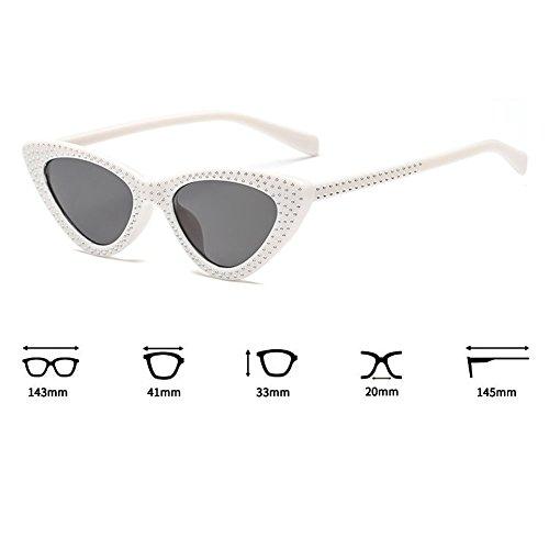 UV400 Gafas Marco juqilu C2 Triángulo pequeño Mujeres Eye Anteojos Sunglasses Cat Cool OnzR6