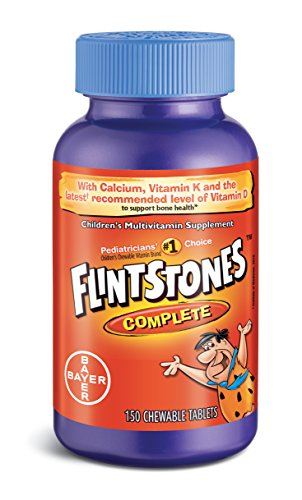 Flintstones Children's Complete Multivitamin Chewable Tablets, 150-Count Bottles (Pack of 2)(Packaging May Vary)