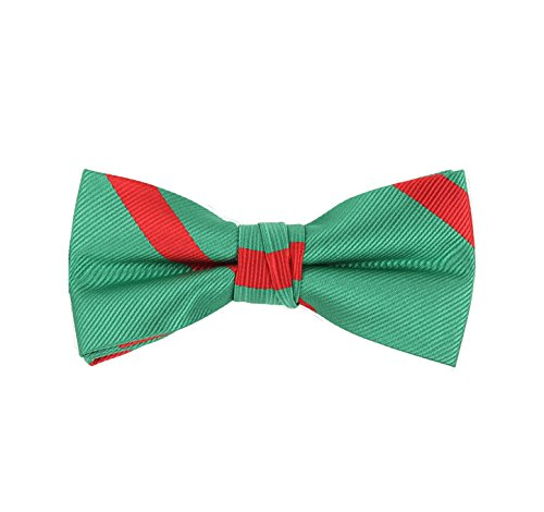 Born to Love - Boys Kids Adjustable Bowtie Easter Outfit Party Dress up 4 Inches (green red stripe) - Love Irish Boys Green