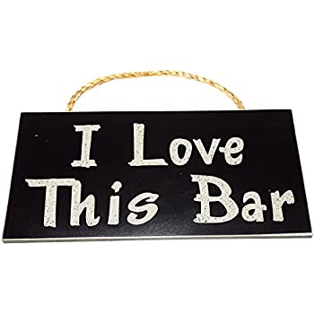 I love this bar vintage wood sign for wall for Bar decor amazon