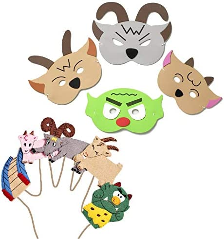 [해외]Blue Frog Toys Billy Goats Gruff Mask and Finger Puppet`s - Bedtime Story Time Nursery Rhyme / Blue Frog Toys Billy Goats Gruff Mask and Finger Puppet`s - Bedtime Story Time Nursery Rhyme
