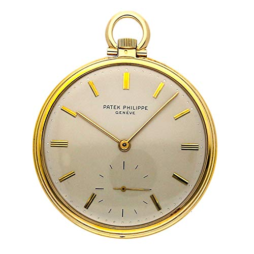 Patek Philippe Gold Dial - Patek Philippe Vintage Mechanical (Hand-Winding) Silver Dial Mens Watch Pocket Watch (Certified Pre-Owned)