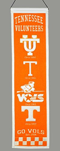 Winning Streak Sports NCAA Tennessee Volunteers Heritage Banner