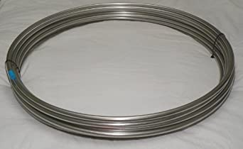 "316/316L SS Tubing Coil - 1/2"" OD x 25' Stainless Steel"