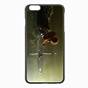 iPhone 6 Plus Black Hardshell Case 5.5inch - snail drop water shell Desin Images Protector Back Cover