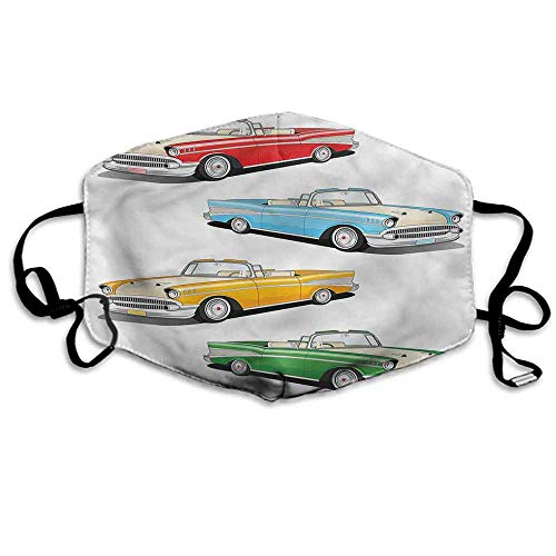Manly Dust Mouth Mask Roadsters Old Vintage for Men and Women W4