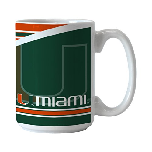 Hurricanes Coffee Mug (NCAA Miami Hurricanes Split Mug, 15-ounce)